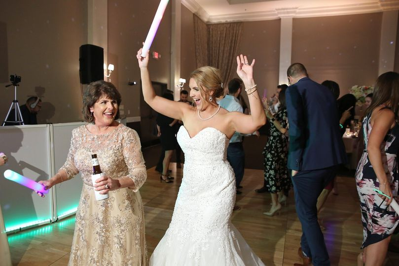 The Bride loving the music