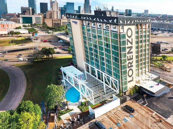 Lorenzo Hotel aerial biew