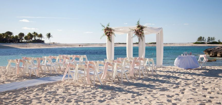 A breezy beach wedding