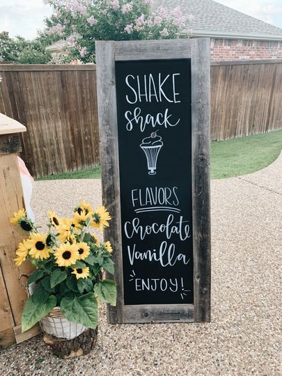 Menu signs available