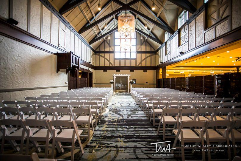 The wedding ceremony venue
