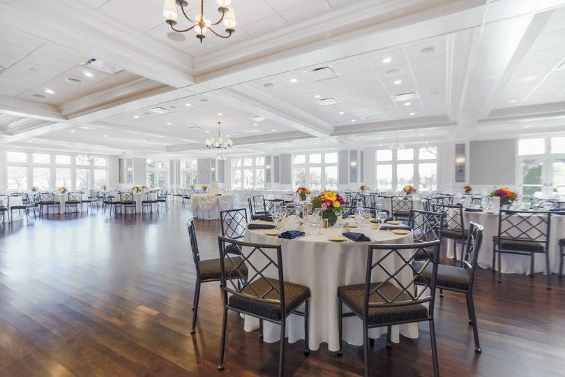 Dance floor in wedding reception