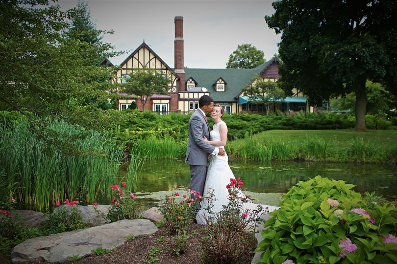 Couple by the pond