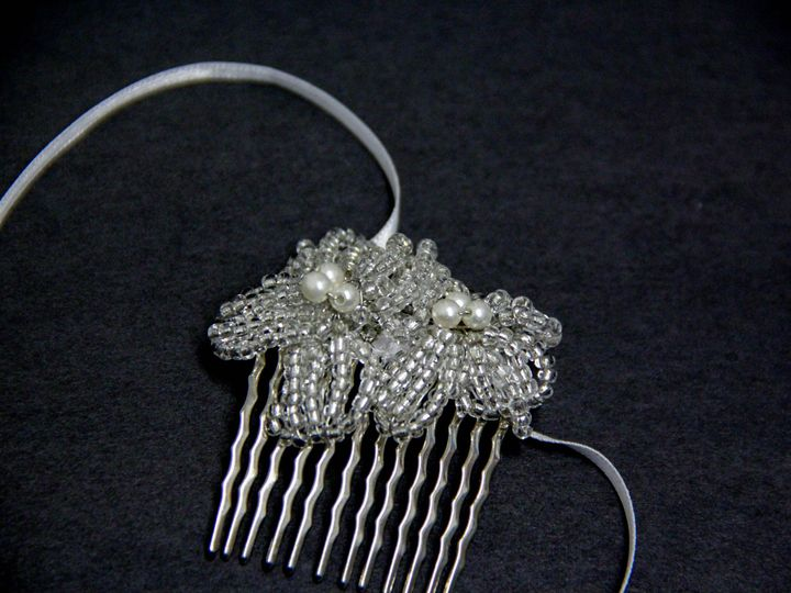 Tmx 1418400987326 Vintage Crystal And Pearl Flower Haircomb With Rib Elmsford wedding jewelry