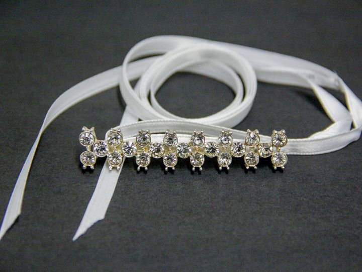 Tmx 1418405419466 Rhinestone Bar Satin Ribbon Headband Elmsford wedding jewelry