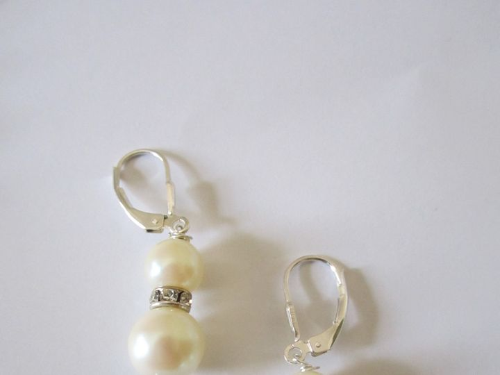 Tmx 1418405689944 Pearl Pink And Diamond Rondelle Earrings 002 Elmsford wedding jewelry