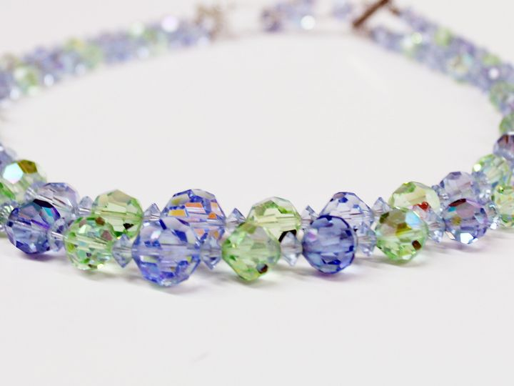 Tmx 1418406538691 Blue Green Two Stranded Crystal Necklace Elmsford wedding jewelry