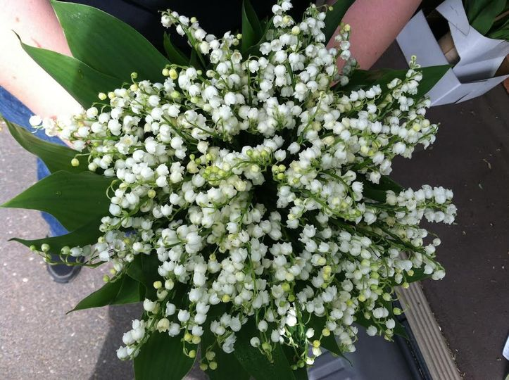 Classic and ladylike, a timeless lily of the valley bouquet