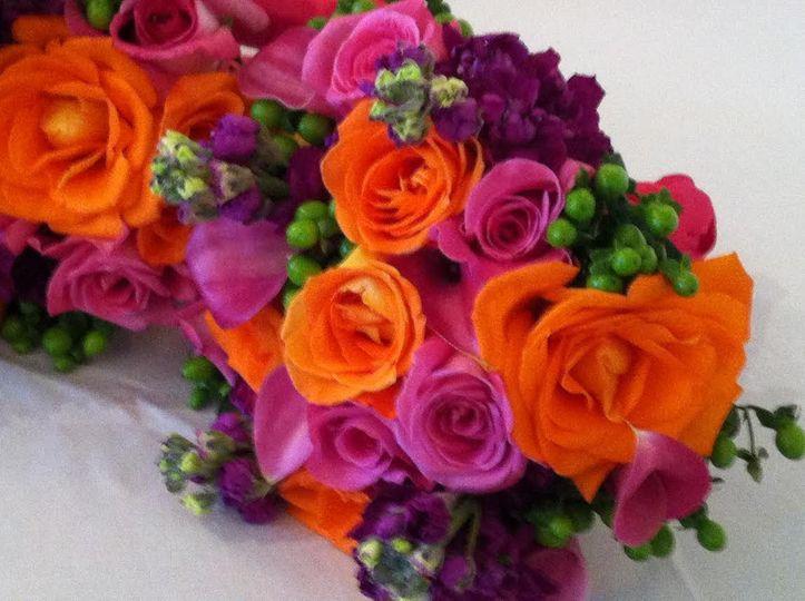 Orange and pink arrangements