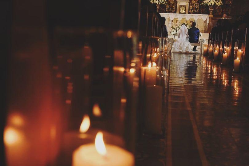 Wedding at a 1600s Church