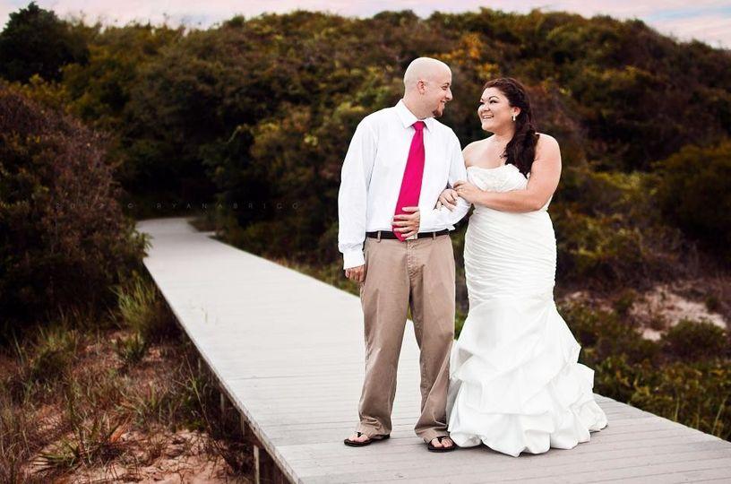 Couple on a boardwalk