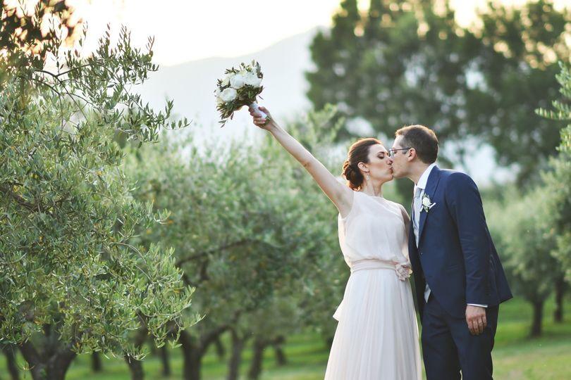 Wedding among olive trees @inc