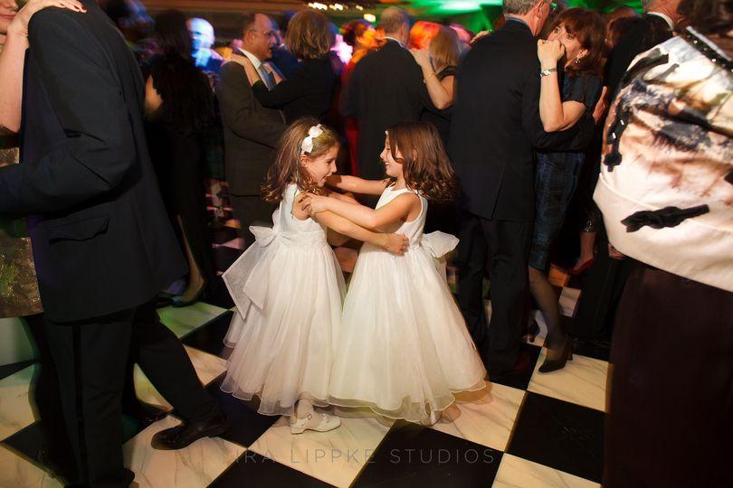 Dancing flower girls