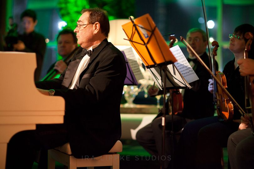 Piano and string section