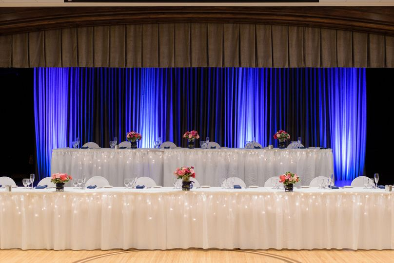 Head table and backdrop lighting