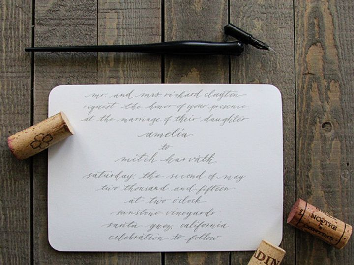 Tmx 1425019729010 Calligraphy Wedding Invitations   The Knot Dallas wedding invitation