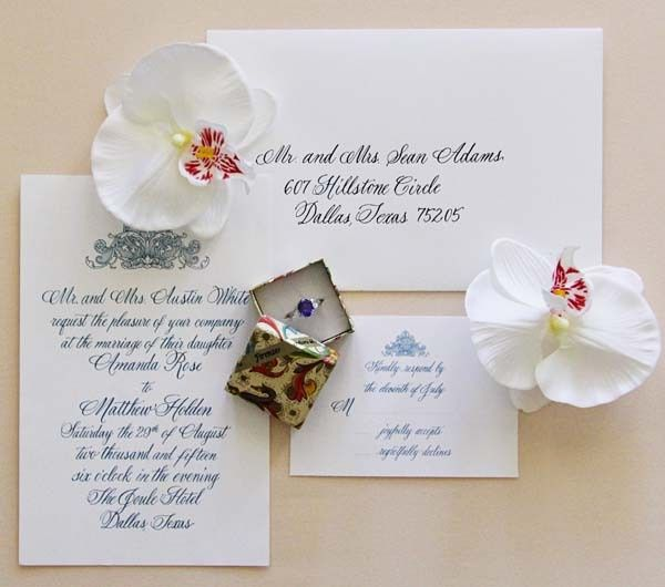 Tmx 1425019746444 Traditional Wedding Invitations   Wedding Calligra Dallas wedding invitation