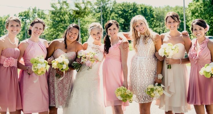 Pink themed wedding