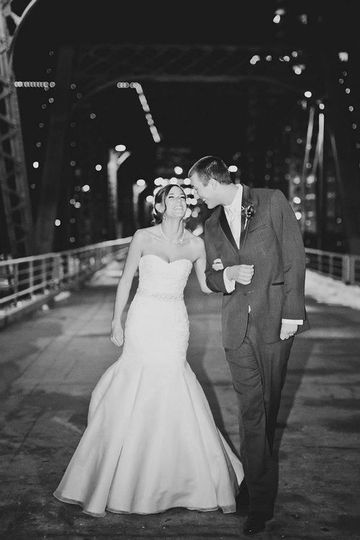 Couple at a bridge