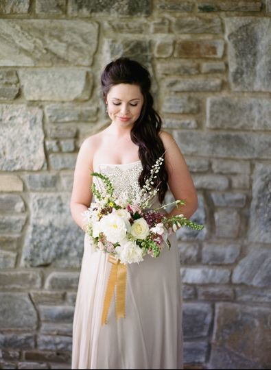 Bride shot- Photography by Almond Leaf Studios | Florals by J KayMay LLC