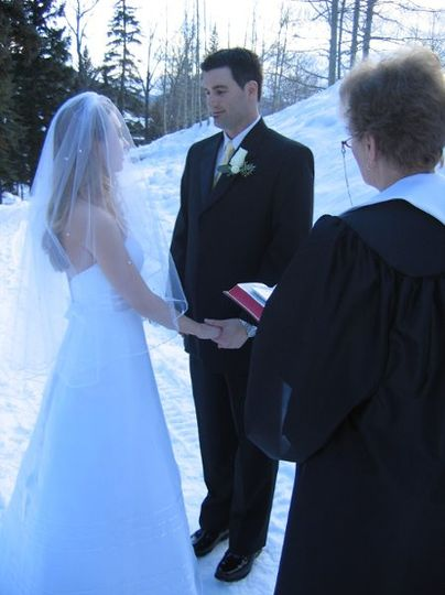 This couple came from Virginia to be wed in the beautiful mountains of Vail, CO.