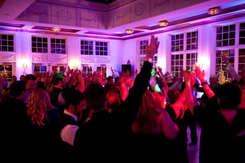 Dance floor with uplighting