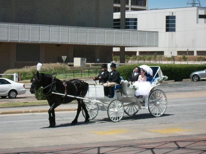 Tmx 1383154073707 Carriage Photo Infront Of Hotel Tuls Sapulpa wedding transportation
