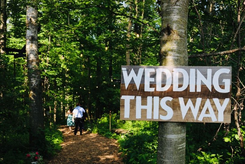 "Follow the trail to ""I Do""!"