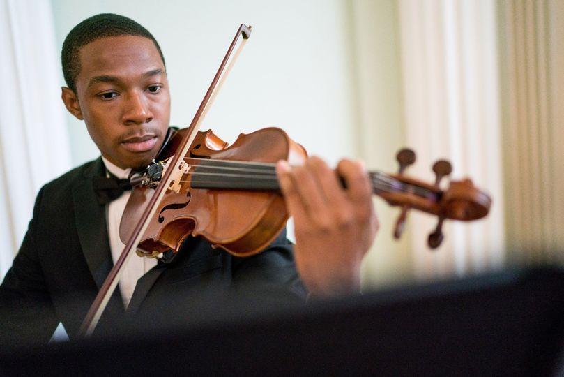 Violinist - focus
