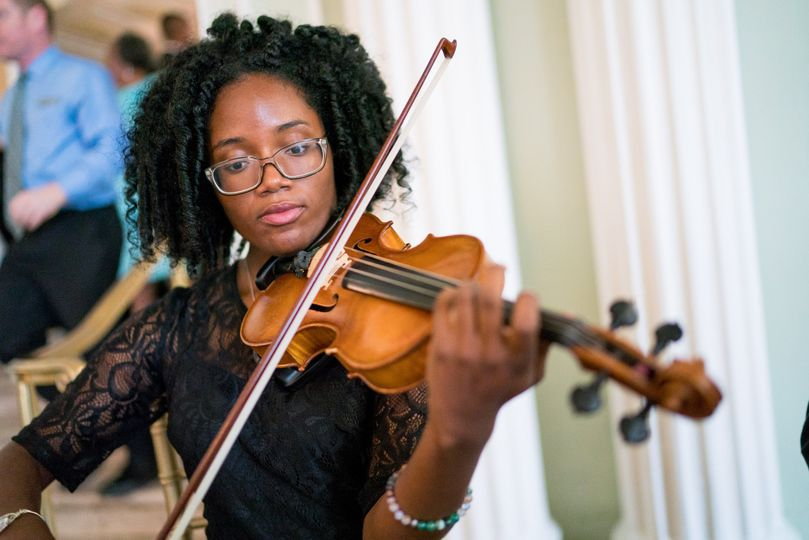 Violinist - concentration