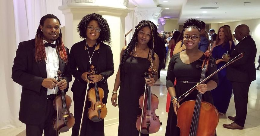 String quartet - ready to perform