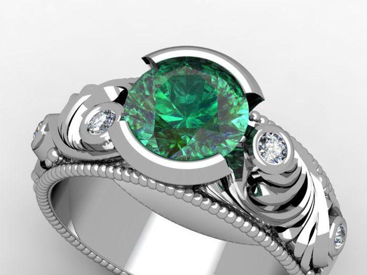 Tmx 1523894572 9da547bdc451e12a 1523894570 1a8f5b72c4a39345 1523894567151 7 Emerald Eng Copy Pittsburgh, Pennsylvania wedding jewelry
