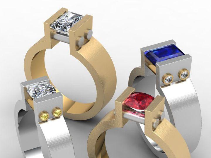 Tmx 1523894996 B713d42075333e11 1523894994 0ff3d5b896f9e01e 1523894989332 29 Geometrics Pittsburgh, Pennsylvania wedding jewelry