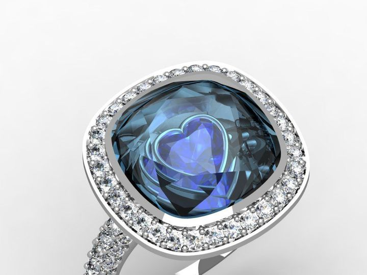 Tmx 1523895000 935977dff9588dd0 1523894998 07aba154b2bd9c09 1523894989350 43 Saph Aqua HAlo1 Pittsburgh, Pennsylvania wedding jewelry