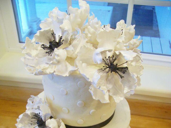 Tmx 1351531266518 Blackandwhiteruffleflowercake Stowe, VT wedding cake