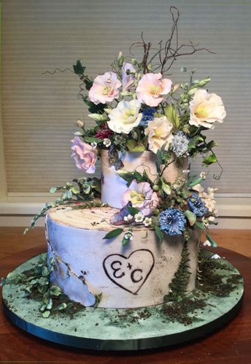 Tmx 1470055373607 Forest Floral Fantasy Final 1 Stowe, VT wedding cake