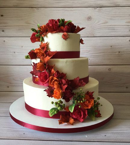 Tmx 1470055390119 Autumn Roses Final 1 Stowe, VT wedding cake