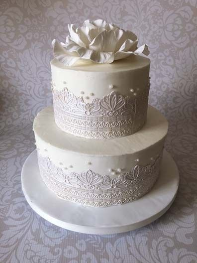 Tmx 1470055396265 Lace Cake 1 Stowe, VT wedding cake