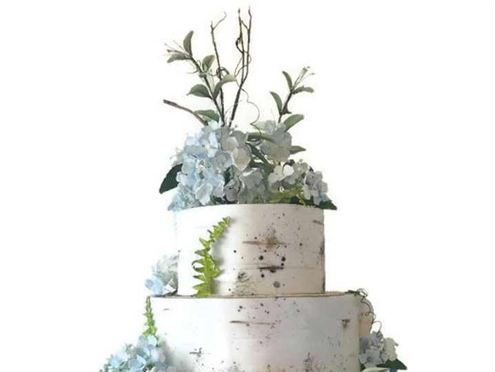 Tmx Blue Hydrangea Birch Bark Cake 1 51 156057 Stowe, VT wedding cake