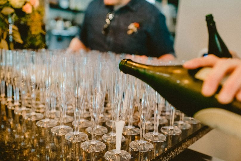 Champagne toast - YUM!