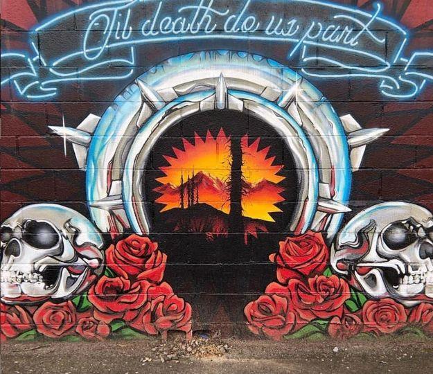 Till death do us part mural