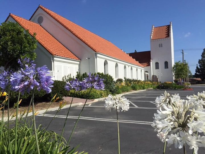 Parking and exterior of The Danish Church & Cultural Center