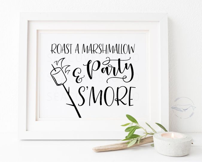 Party s'more sign