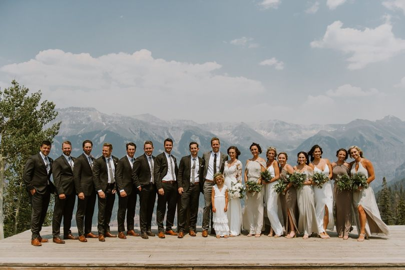 Telluride wedding - bridal party