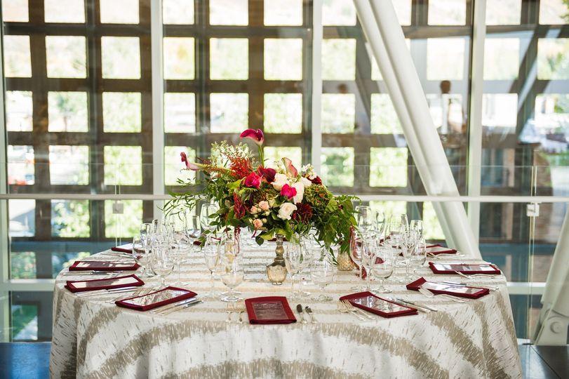 Aspen wedding - reception setup