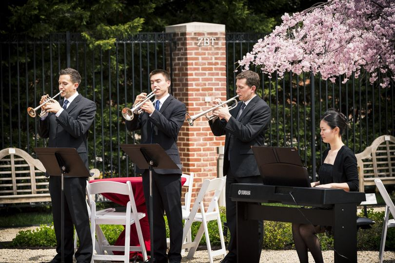 Trumpets and keyboard