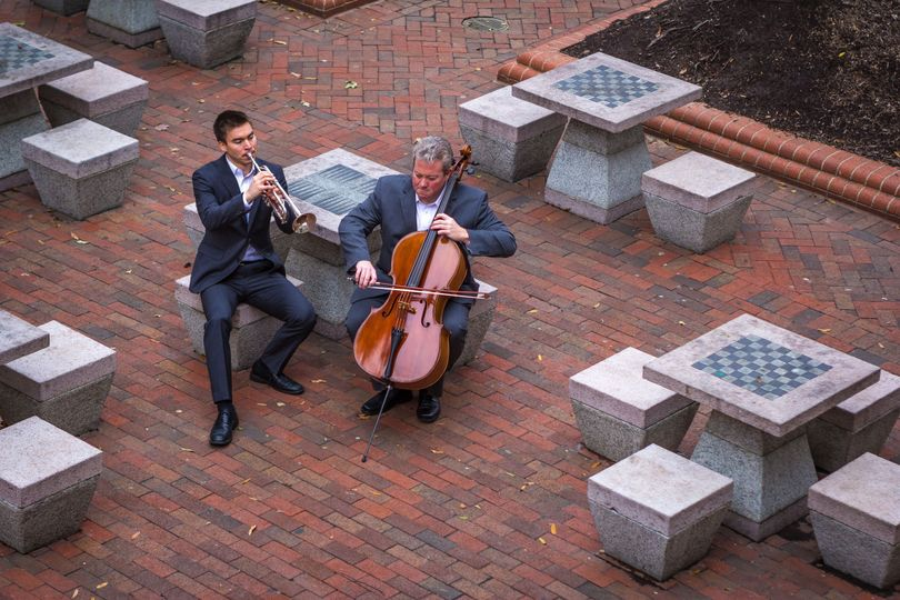 Cellist and trumpeter