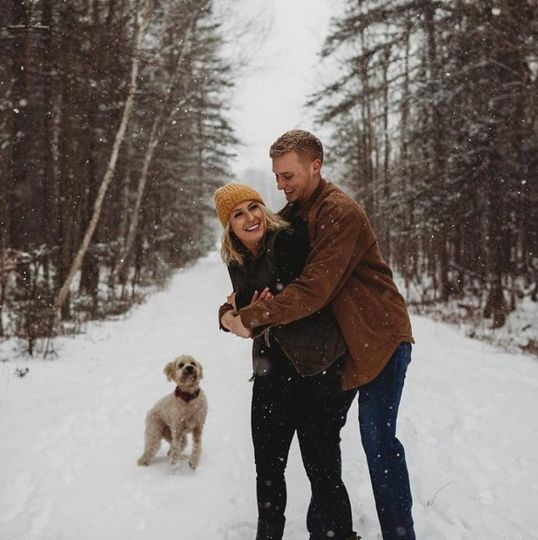 A romantic winter scene
