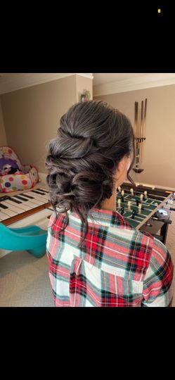 Bridal hair trial run