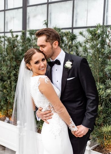 Sheer wedding gown sleeves